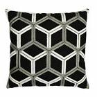 Lush Decor Lattice Black and Grey Cotton 18-inch x 18-inch D