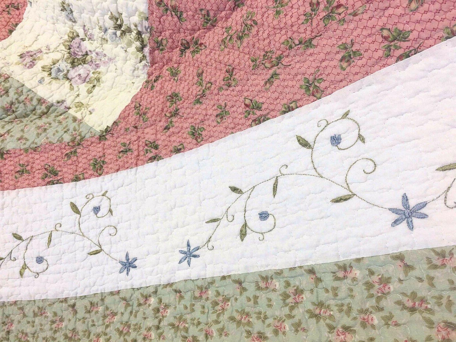 Laura Celadon Real Reversible Quilt Set Bedspread