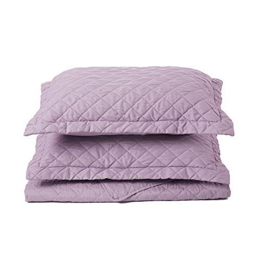 Lavender Bedding King Diamond Pattern Piece Set Lightweight
