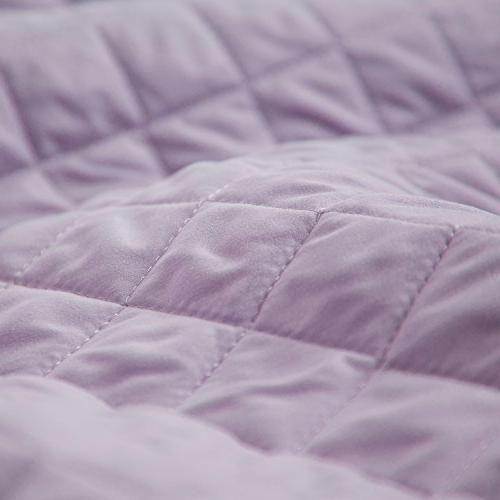 Lavender King Size Pattern Piece Coverlet Set Lightweight