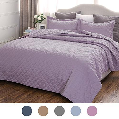 lavender bedding quilt set queen