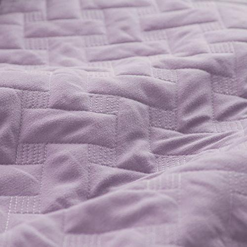"Purple Set Bedding 68""x86"" Lavender Lightweight"