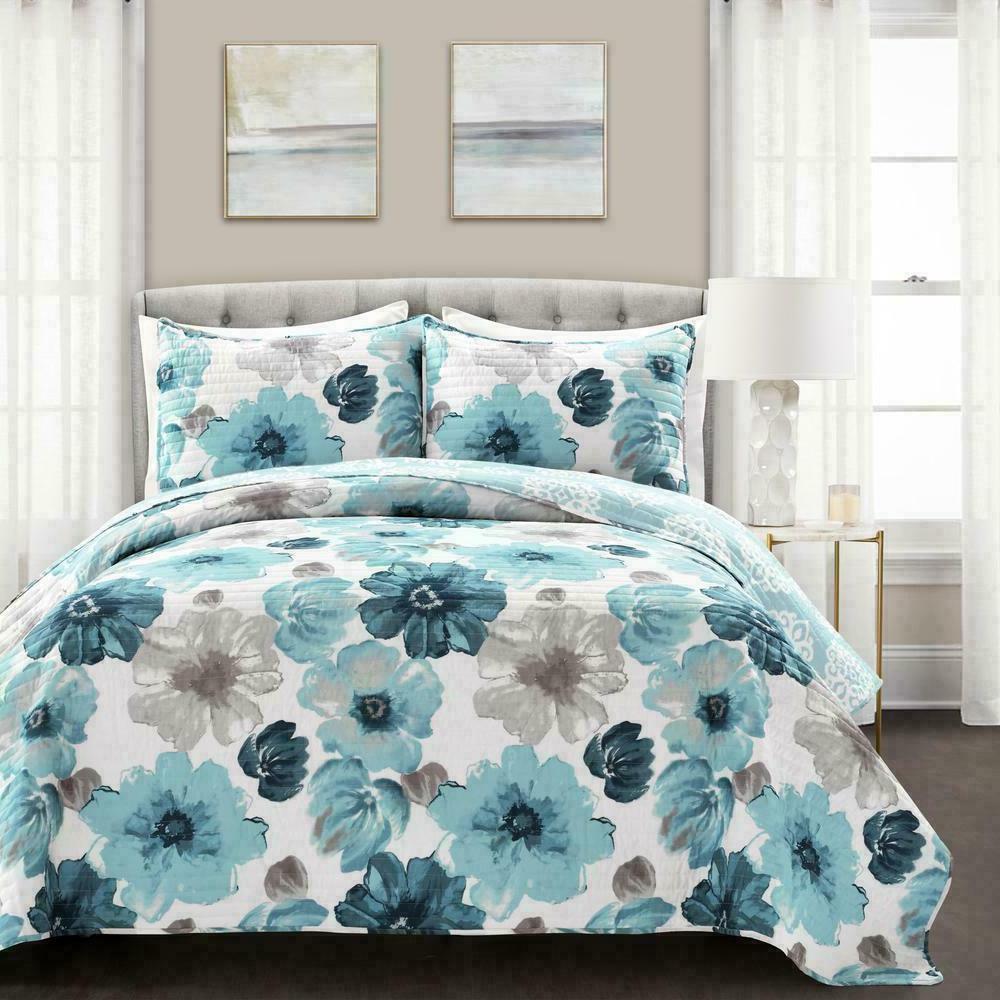 Lush Decor - Floral 3 Bedding Set -