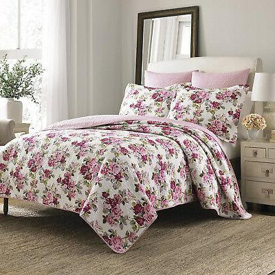 lidia 3 piece quilt set cotton twin