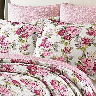 lidia pink white flower floral full queen