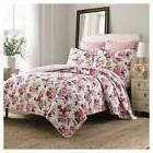Lidia Quilt And Sham Set Twin Pink Multi - Laura Ashley&#153