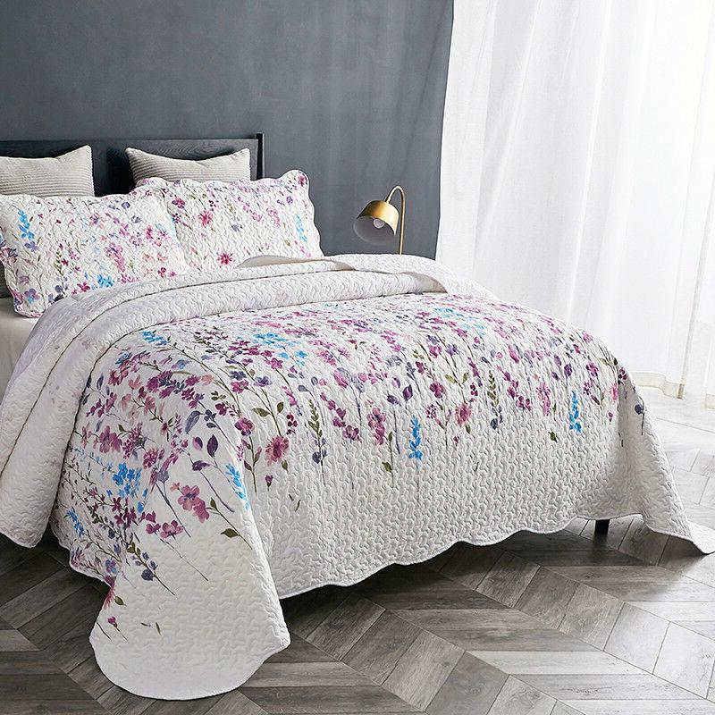 Bedsure Queen/ Lilac Floral Print