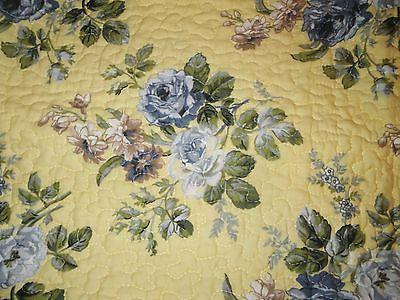 LAURA ASHLEY BLUE FLORAL Twin 2pc CHIC