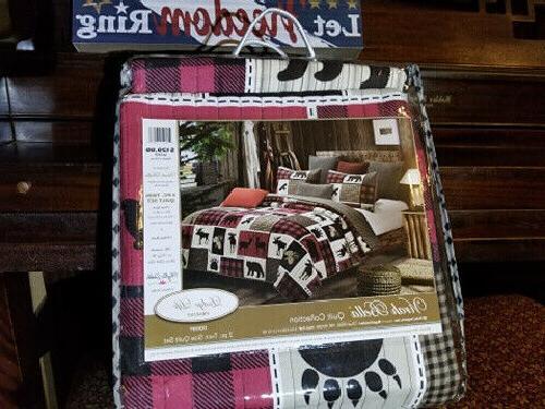 lodge life twin quilt set