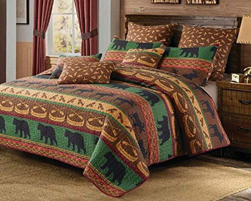 lodge preserve king quilt pillow