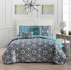 Avondale Manor Lola 5-piece Quilt Set Queen Blue