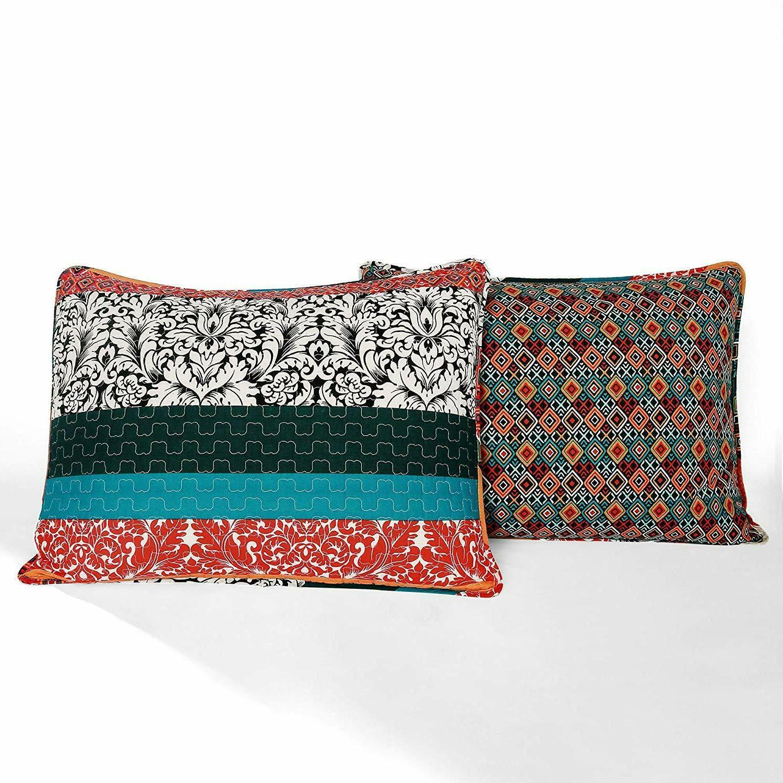 Lush Quilt Reversible 3 Piece Bohemian Design -