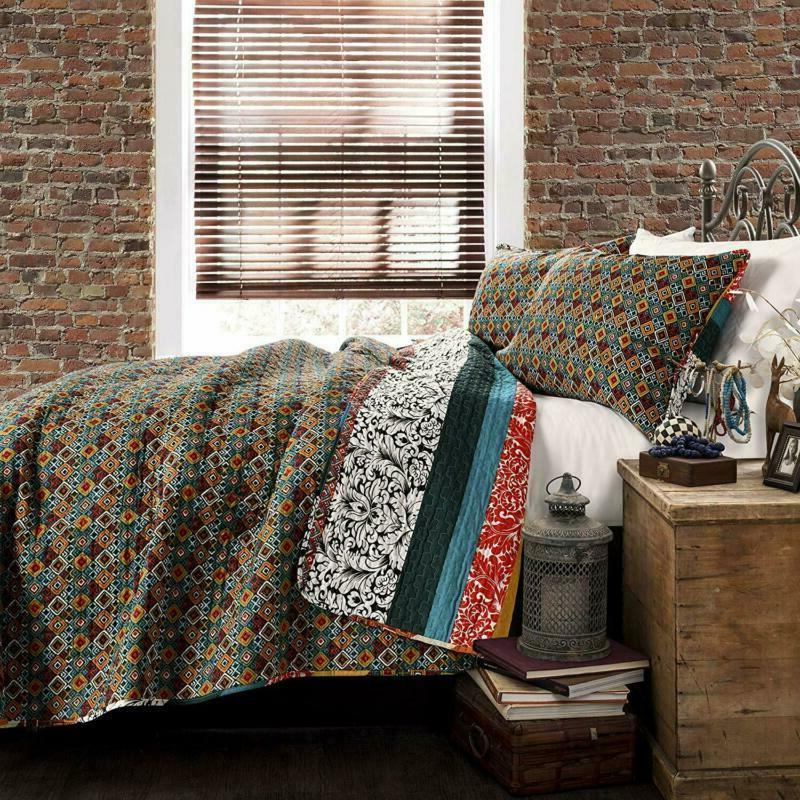 Lush Decor Boho Quilt 3 Bohemian Bedding Set -