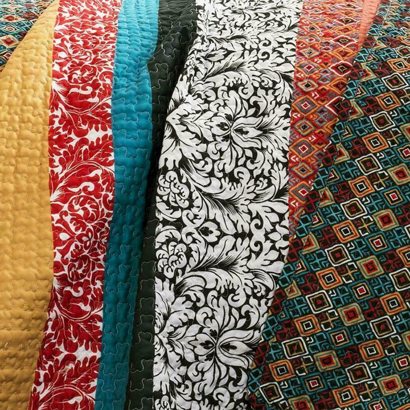 Lush Quilt Reversible 3 Bohemian Design - Ki
