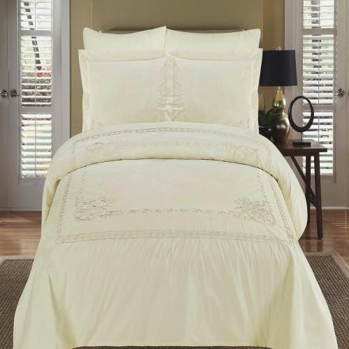 luxurious athena ivory embroidered comforter
