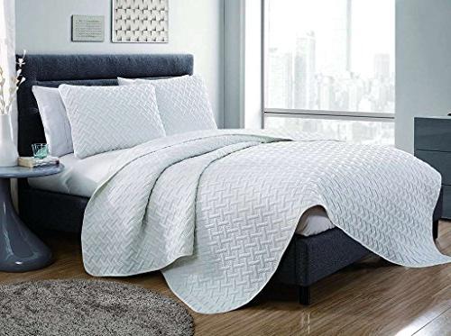 luxurious geometric pattern quilt set