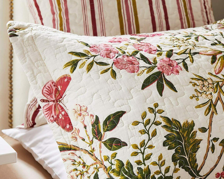 Luxury Designer 3 King/Cal Quilt Butterflies Tones WOW!