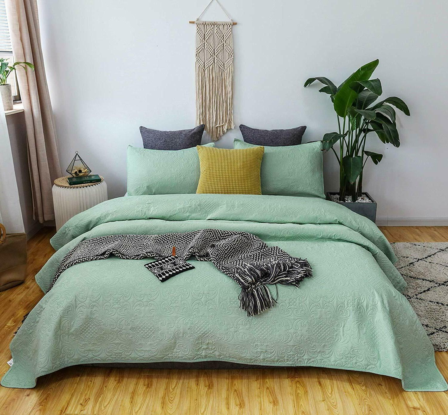 Luxury Soft Warm Microfiber Quilted Coverlet Bedspread