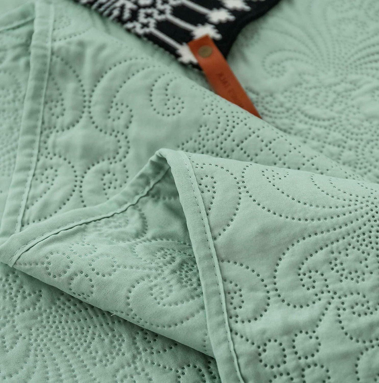 Luxury Microfiber Quilted Bedding Bedspread Quilt