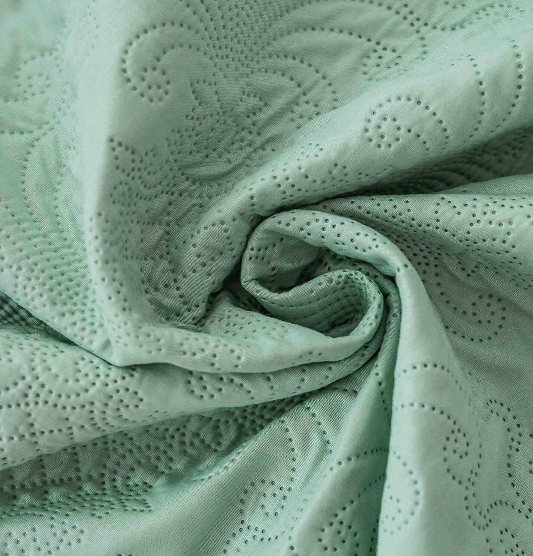 Luxury Microfiber Coverlet Bedspread Quilt Set