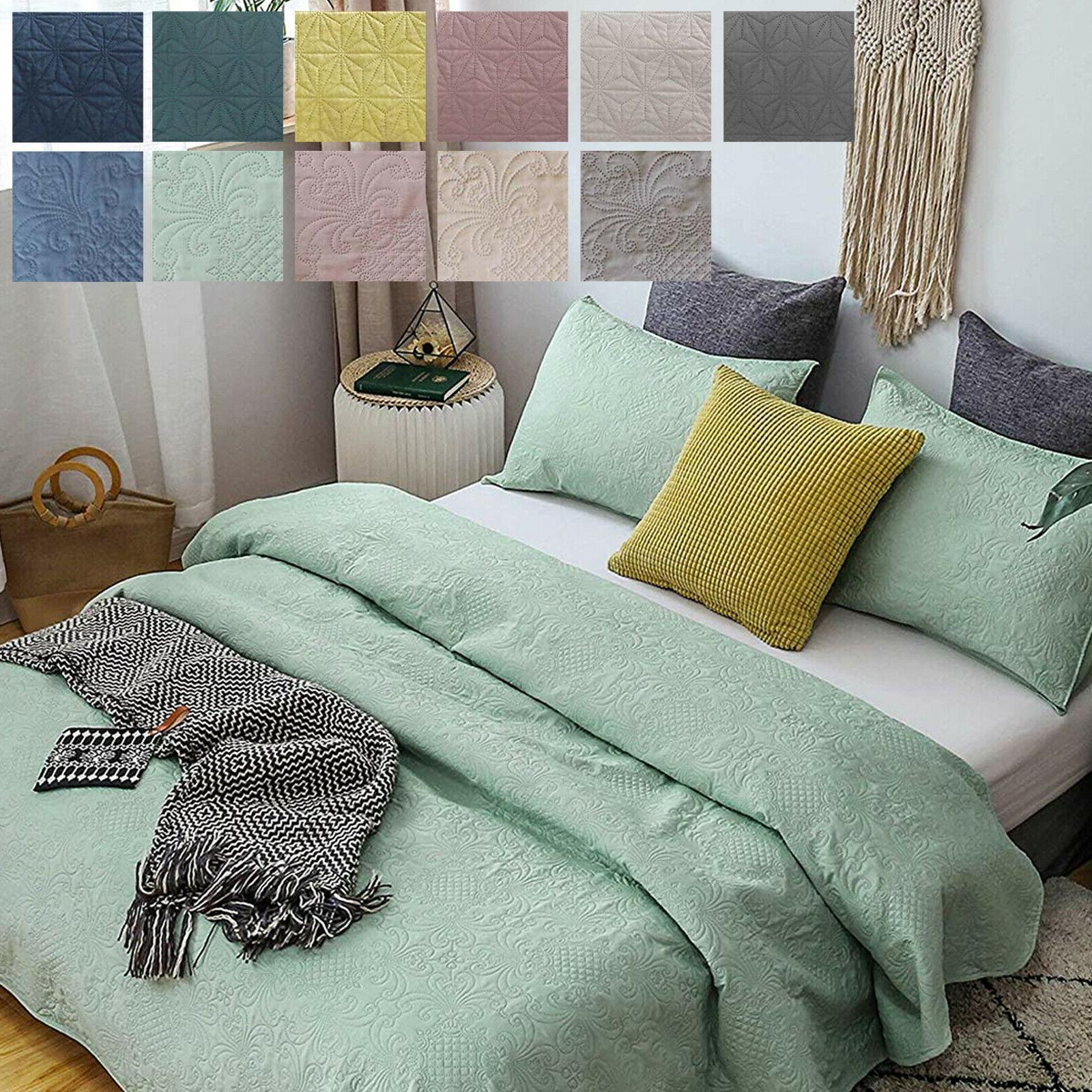 luxury ultra soft warm microfiber quilted coverlet