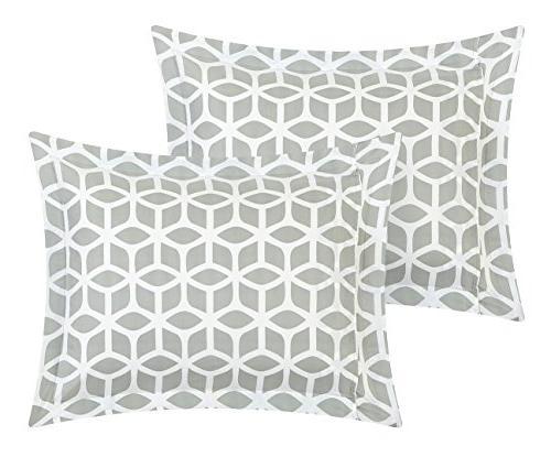 Chic Piece Geometric Full/Queen Grey