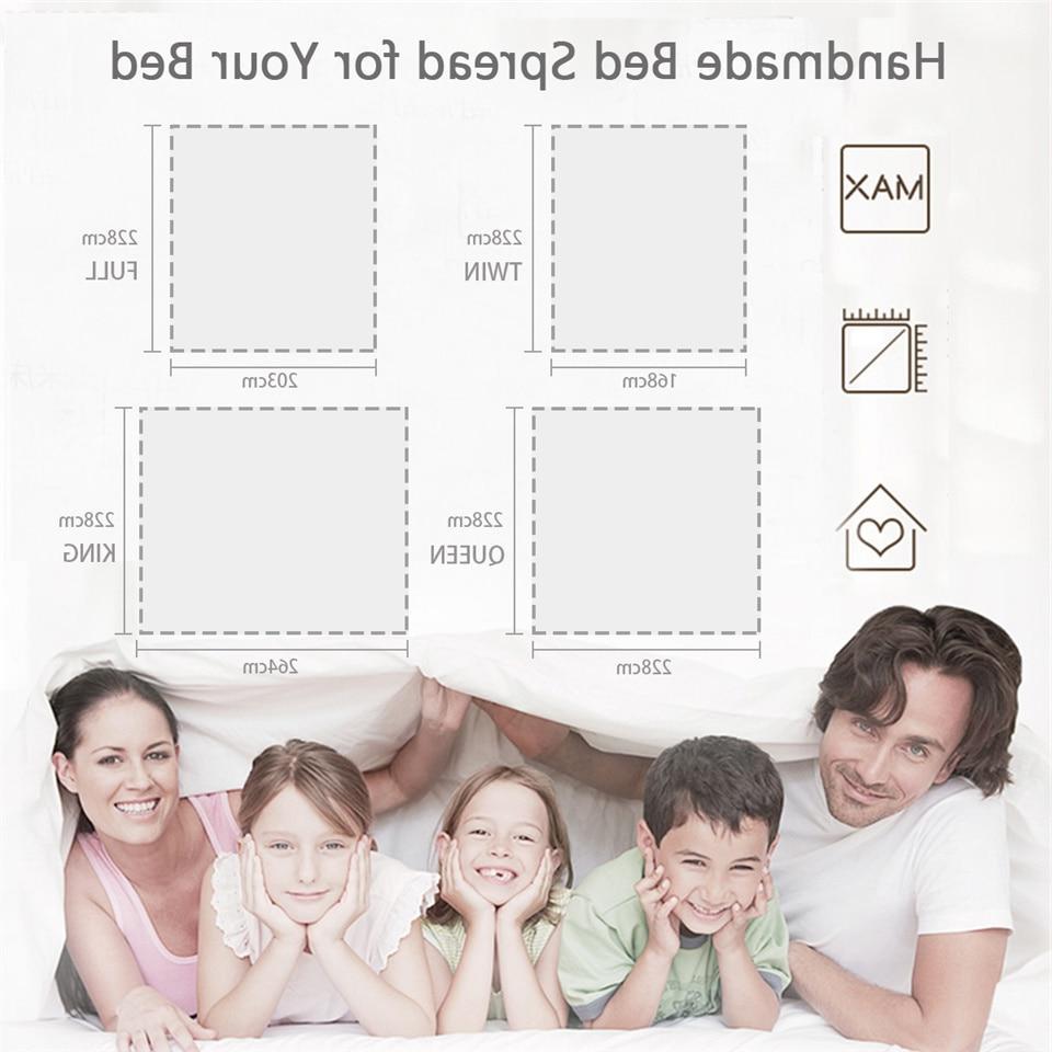 BlessLivingMandalaThin Comforter BohoQuilted Bedding PatchworkBedspread Duvet 3-Piece