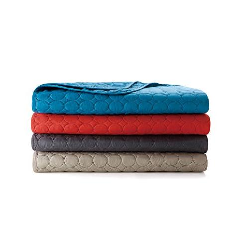VCNY Home Jackson Coverlet, King, Red
