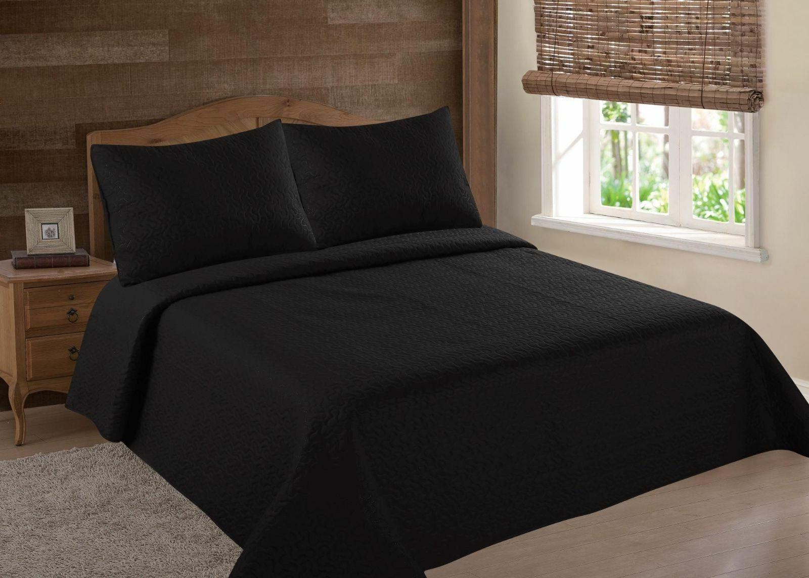 midwest black nena solid quilt bedding bedspread