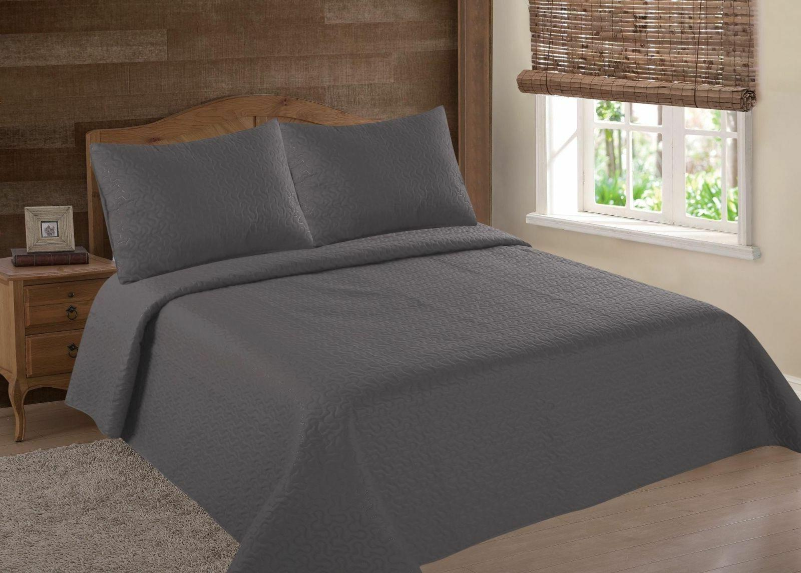 midwest charcoal nena solid quilt bedding bedspread