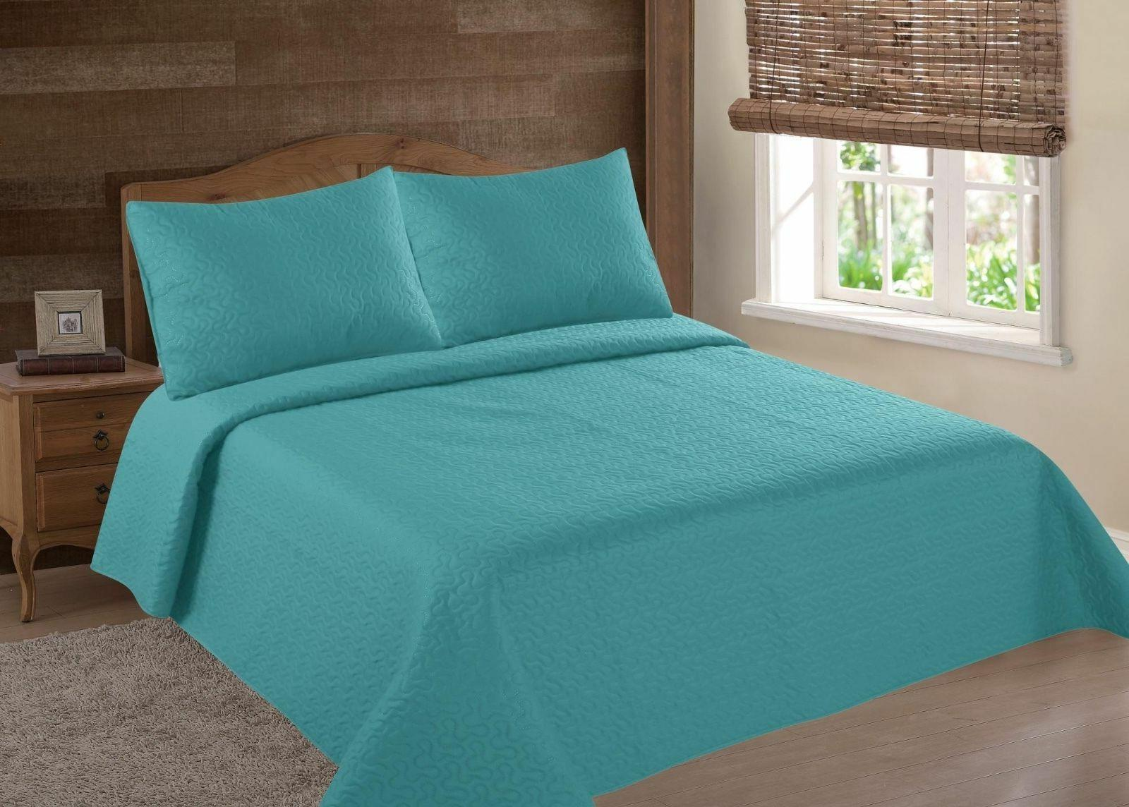 midwest turquoise nena solid quilt bedding bedspread