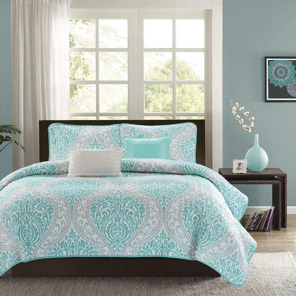 MODERN CHIC BLUE TEAL AQUA WHITE GREY BEACH OCEAN TEXTURED Q