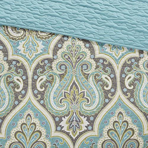 Comfort Spaces - Cotton Mini - Paisley Grey - King/California King Size,