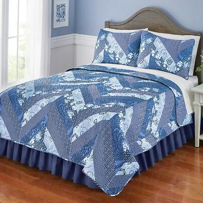 Monterry Blue Quilt Includes and Sham