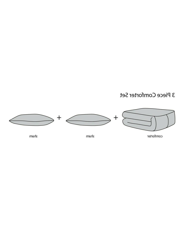 Pem 3-Pc. Comforter FULL QUEEN Black