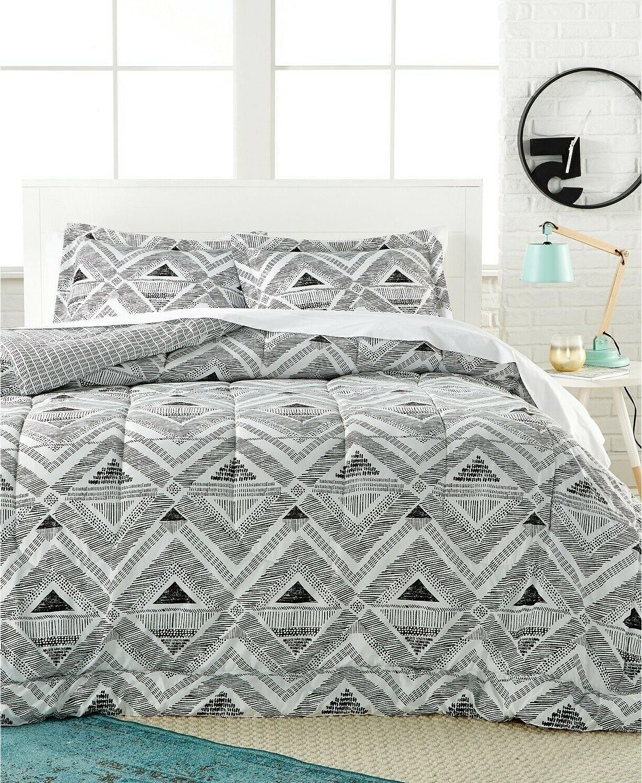 morgan geometric 3 pc comforter set full