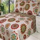 MOROCCAN Boho MANDALA Red/Orange LIGHTWEIGHT Oversized Quilt