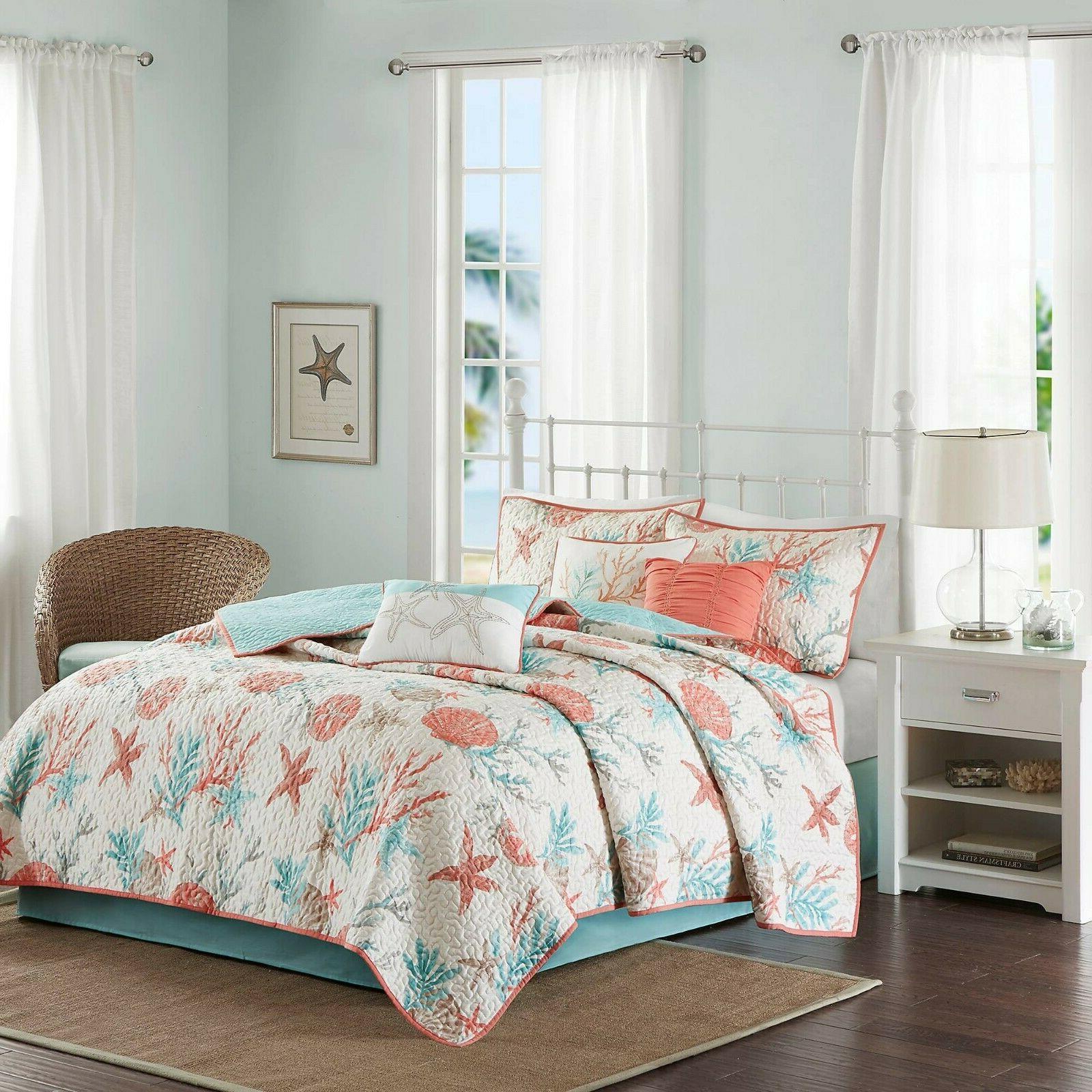 Madison Park Pebble Beach Full/Queen Size Quilt Bedding Set