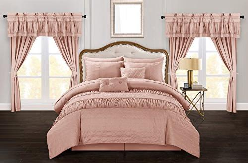 mykonos comforter set striped ruched