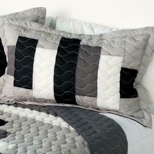 Neat Life PC Vermicelli-Quilted Quilt Set