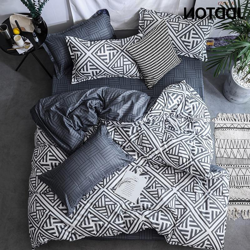 JDDTON Double sided Concise <font><b>Bedding</b></font> Quilt Pillowcase Bed 3pcs/<font><b>set</b></font>