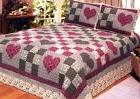NEW!!! Beautiful Country Rustic Primitive Hearts King Quilt