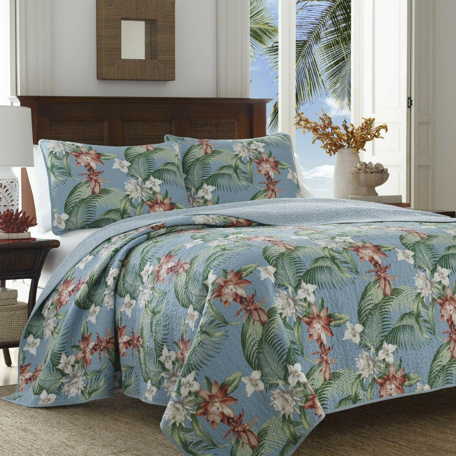New Tommy Bahama Aqua King Quilt Shams Incl $240