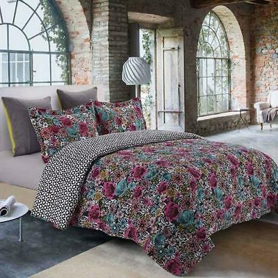 new midnight garden 3 piece quilt set