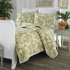 NEW Tommy Bahama Quilt & Sham 2 Piece Set Plantation Tropica
