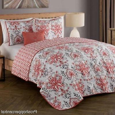 new tabitha reversible king quilt set in