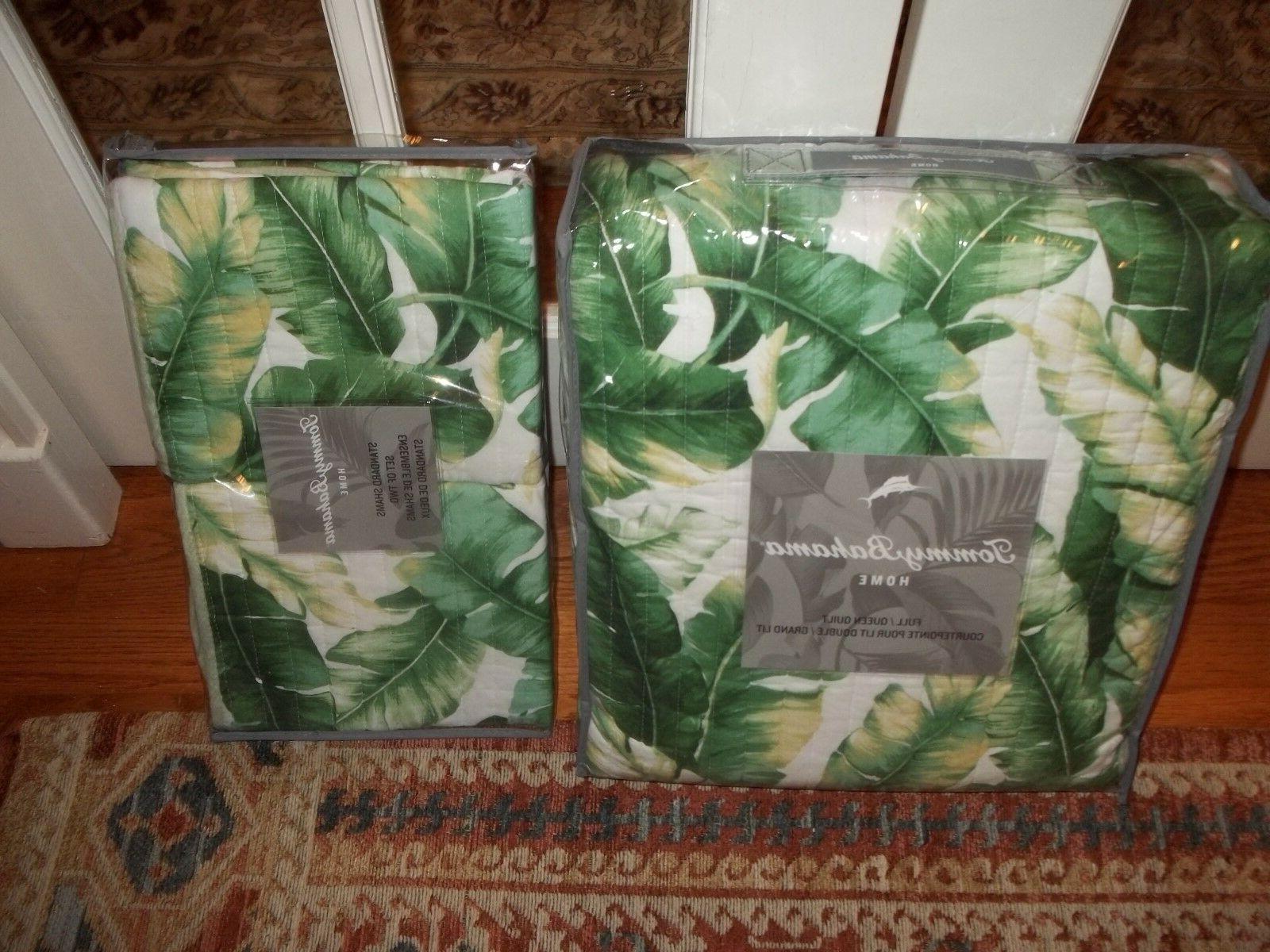 nip anguilla botanical tropical full queen quilt