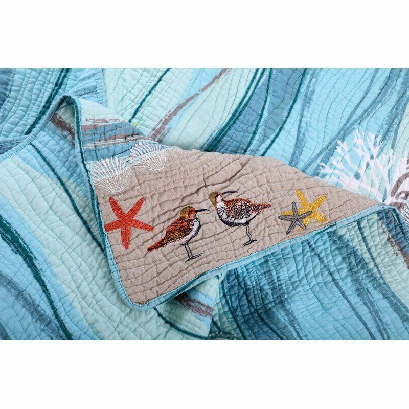 nip beachcrest home beautiful beach reversible quilt