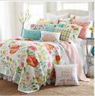 NIP Levtex Home Luxury Bellflower Quilt Set, Multicolor, Siz