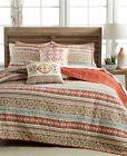 NIP Martha Stewart Silver City Stripe King Quilt & Standard